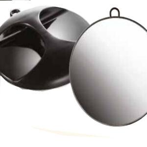 Miroir noir rond diamètre 29 cm