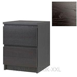 ikea kommode schrank mit 2 schubladen schwarz braun. Black Bedroom Furniture Sets. Home Design Ideas