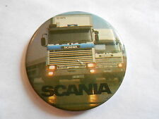 Cool Vintage Scania Swedish Auto Automobile Commercial Truck Advertising Pinback