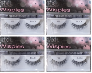 457775f991d Ardell Natural Lashes #122 False Fake Eyelashes Black Wispies 4Pack ...