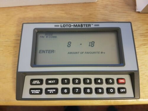 RARE Vintage Loto-master Personal Lottery Computer 1985 6640 ***MINT***Untouched
