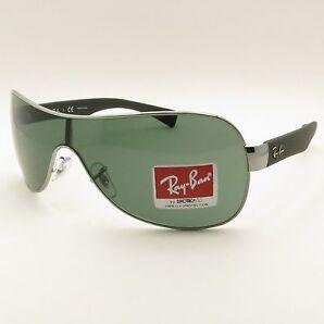 Ray Ban Rb 3471 004/71 Gunmetal Green Authentic