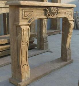 Image Is Loading Hand Carved Marble Fireplace Mantel Old World Finish