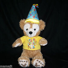 Duffy It's My Birthday Bear Yellow Shirt Hat Hidden Mickey Mouse Face EXC COND