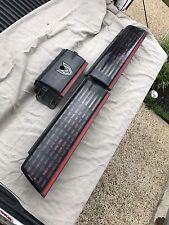 85-90 Pontiac Firebird Trans AM GTA Tail Light Set & Center Filler Silver Emblem
