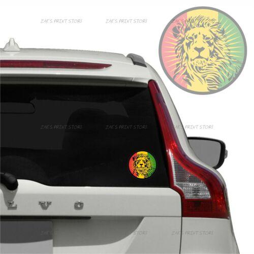 2 Pcs Lion Of Judah Car Vinyl PVC Sticker Rasta Jamaica Reggae Waterproof Decal
