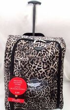 Lightweight-Cabin-Hand-Luggage-Carry-On-Wheeled-Bag-Trolley-Case-Leopard Print