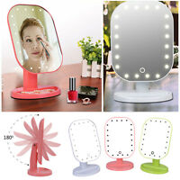 20LED Light Make Up Cosmetic Tabletop Beauty Lamp Mirror 180 Rotation Touching