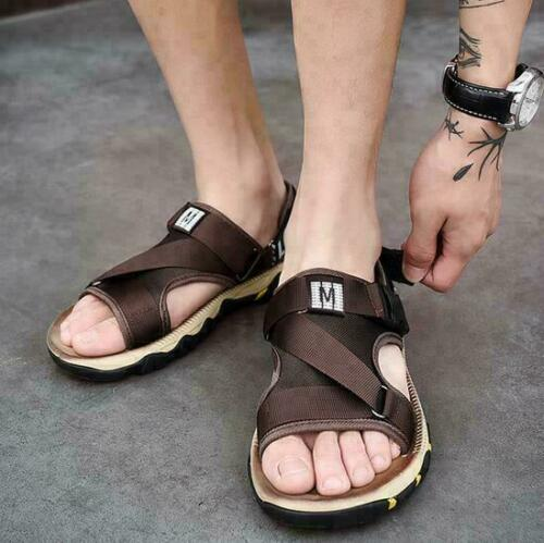 New Mens Sandals Shoes Slip on Beach Outdoor Casual Sports Hook/&Loop Plus Size