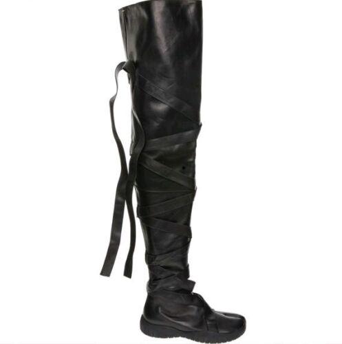 Black Flat 4 Martin Boots Uk Tabi 37 Heel Margiela eu Maison Thigh High dUX088vq