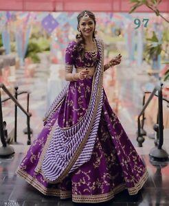 Eid-WeddingnFestive-Special-3pc-Lehenga-Choli-Ethnic-Indian-Embroidery-LG97