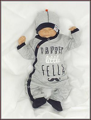 Pflichtbewusst Babaluno Baby Baumwolle 2er Set Strampler + Mütze Gr 56 62 68 74 80 Englandmode Wasserdicht, StoßFest Und Antimagnetisch
