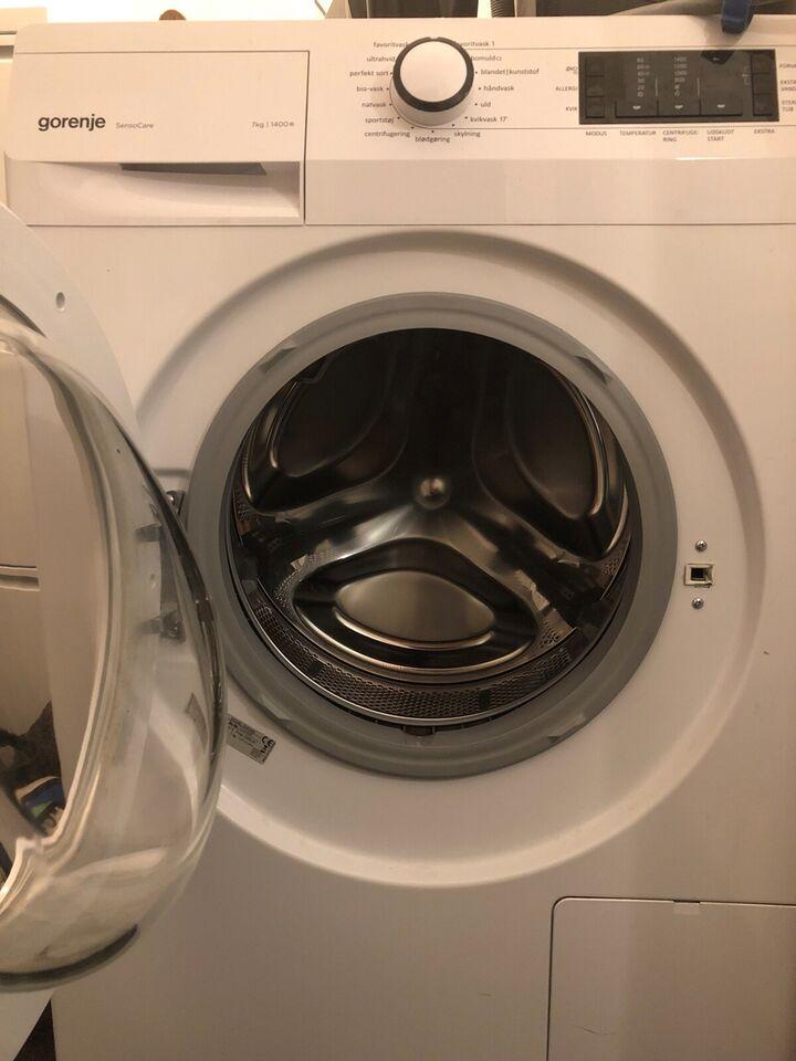 Gorenje vaskemaskine, W47443, frontbetjent