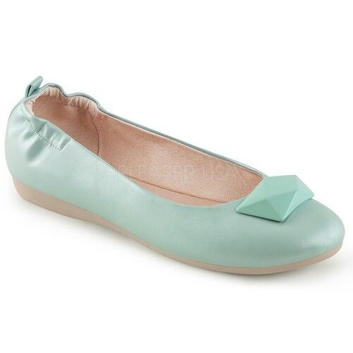 Pin Up Couture OLIVE-08 Womens Aqua Toe Faux Leather Round Toe Aqua Foldable Flats Shoes 15a45e