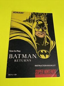 BATMAN-RETURNS-KONAMI-Instruction-Booklet-Manual-Original-SNES-SUPER-NINTENDO
