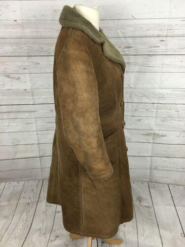 Vintage Vintage vrouwen schapenvacht breasted voor jas 44 Coat Breasted Double Sheepskin 44 dubbele Women's 8q8rxSRwg