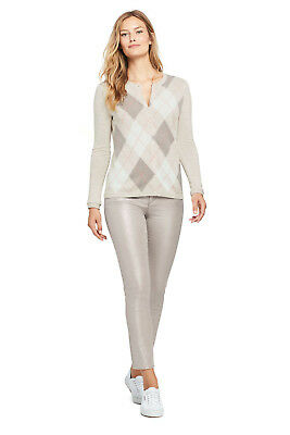 Lands/' End NWT Women/'s High Rise Slim Leg Ankle Jeans Shimmer Navy MSRP$80