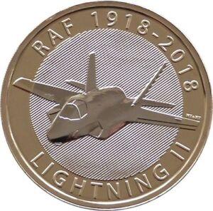 Glorieux 2018 Monnaie Royale British Royal Air Force Lightning Ii Bu £ 2 Deux Pound Coin-afficher Le Titre D'origine