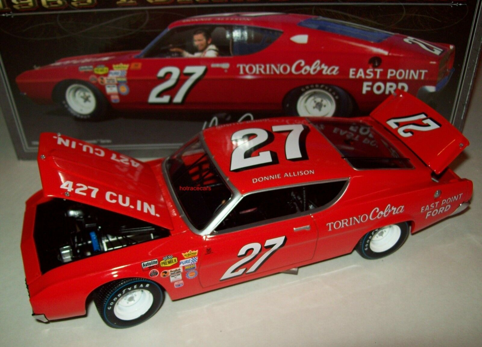 Donnie Allison 1969 East point FORD  27 Torino Cobra NASCAR Legends 1 24 NEW