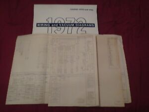 1972 Mercury Cougar And Xr7 Wiring Diagrams Schematics Manual Sheets Set Ebay
