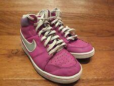 Nike Backboard II Purple Leather Mid Top Trainers Size UK 4 EU 36.5