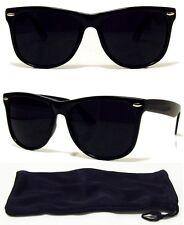 80ff5be759070 Dark BLACK Lens Sunglasses Vintage Retro Aviator Men Women Classic Frame  Glasses