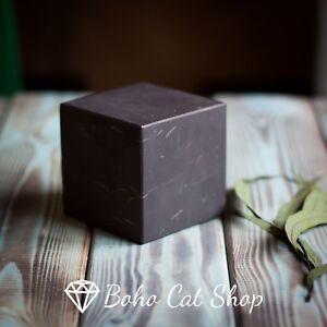 Details about Shungite Unpolished Cube 50mm/1 9''   Karelia magic stone,  Reiki, EMF Protection