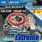 PROJECTA VSR100K 12V 100AMP DUAL BATTERY KIT PLUS BONUS PUSH BUTTON OVERRIDE