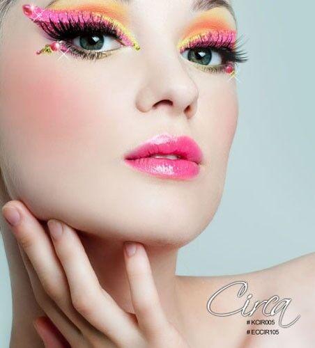 Xotic Eyes Costume Gem Sequin Reusable Self Adhesive Crystals Eye Makeup Strips
