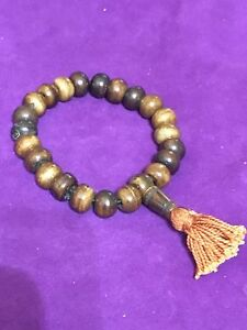 Asian Antiques Antiques Purposeful Pulsera Tibetana Madera Ample Supply And Prompt Delivery