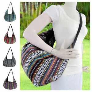Large-Aztec-Shoulder-Bag-Boho-Crossbody-Convertible-Backpack-Yoga-Striped-Hobo