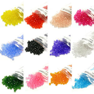 Lot-of-500-Plastic-Acrylic-6mm-Faceted-Round-Spacer-Beads-Many-Colors-To-Choose