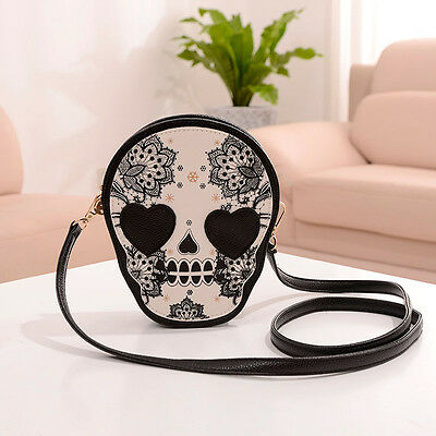 Stylish Women Punk Style Skull Handbag Purse Messenger Packet Shoulder Bag Gifts