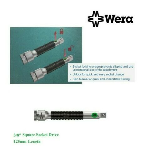 "Wera 8796SB 073251 Zyklop Extension Bar 125 mm de long X 3//8/"" Square Socket drive"