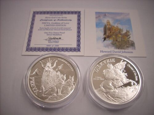 Valkyrie 1 oz .999 Silver Proof Round USA Coin The Norse God Coin Series Freya