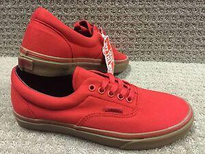 Vans Hombre Gum Era Zapatos Lona Racing Rojo Arzdwr