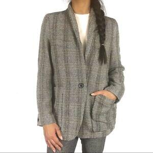 Isabel-Marant-Etoile-Womens-Blazer-Size-6-Wool-Herringbone-1-Button-Jacket
