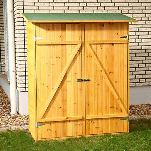 Mobile armadio ripostiglio in legno da esterno giardino ebay for Mobile esterno legno