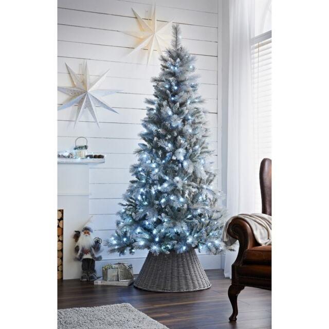 Brand New Pre-Lit Dakota White Iridescent Christmas Tree 7ft indoor//Outdoor Use