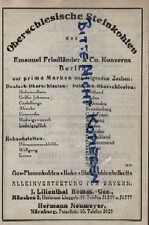 BERLIN, Werbung 1925, Emanuel Friedländer & Co. Konzerns Oberschles.Steinkohlen