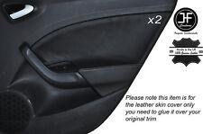 GREY STITCH 2X REAR DOOR CARD TRIM LEATHER COVER FITS SEAT IBIZA MK5 09-14 5DR