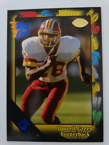 1991-Wild-Card-60-Darrell-Green-Washington-Redskins-5-Stripe-Football-Card