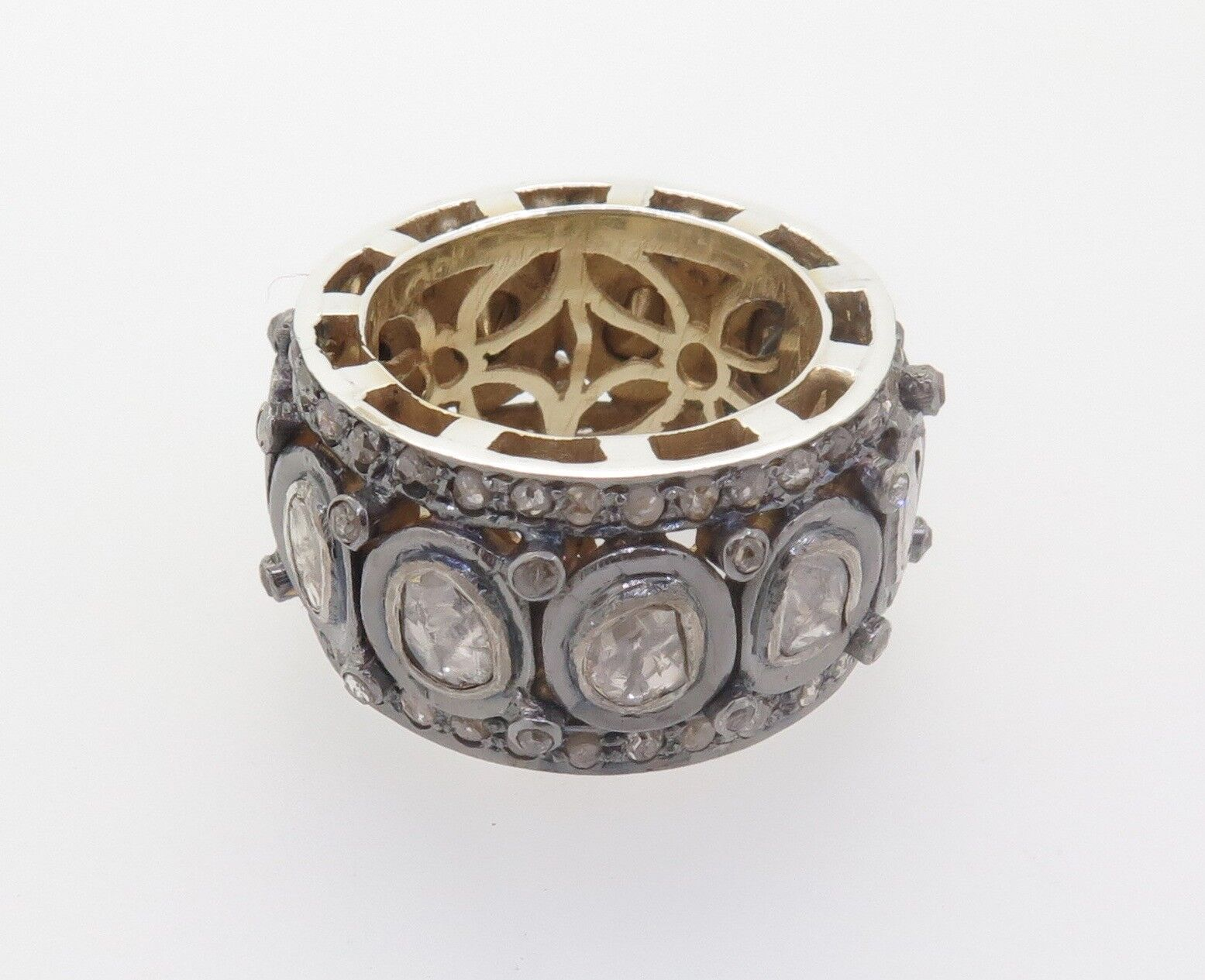.Handmade 2.50ct pink Cut Full Circle Diamond Eternity Ring Size N Val  8810
