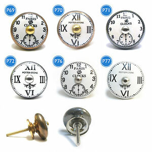 Shabby-Chic-Ceramic-Vintage-Clock-Drawer-Door-Cupboard-Knobs-Handles-Furniture