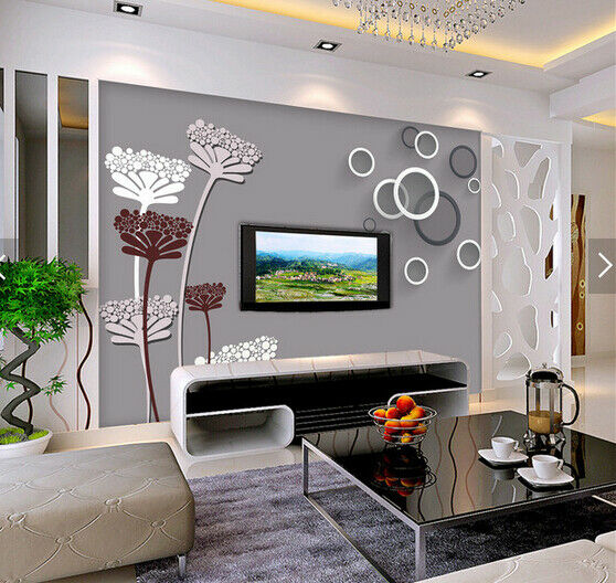 3D Flowers Strokes 83 Wallpaper Mural Paper Wall Print Wallpaper Murals UK Carly