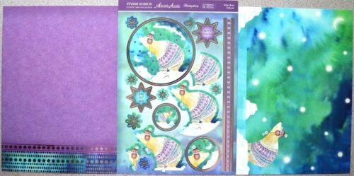 Christmas Stylish Season Foiled A4 Hunkydory Toppers /& Matching A4 Card NEW