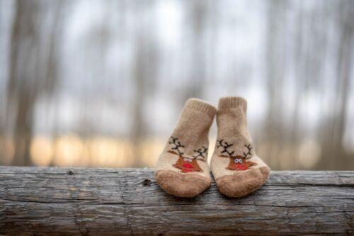 Organic Wool Socks Cute Reindeer Best Gifts High Quality Made in Mongolia