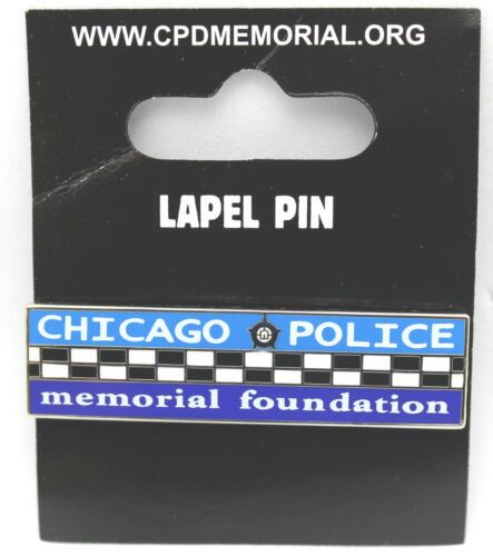 CHICAGO POLICE MEMORIAL BAR LAPEL PIN