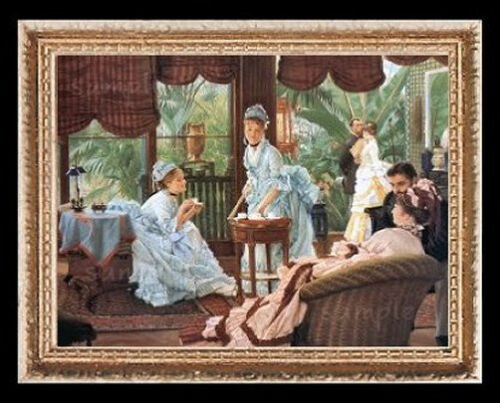 The Conservatory Party Miniature Dollhouse Picture