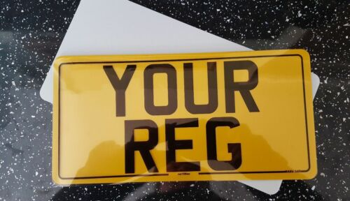 12x6 American Import Number Plates Front /& Rear 12x6 Road Legal